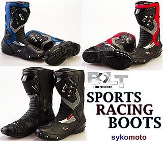 e784c41114320 Modeka Bottes Moto Speed Tech Sport Bottes Cuir Réflecteurs Noir Taille 41  Bottes