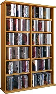 VCM Ronul-Torre para CDDVD para 300 CDs sin Puerta de Cristal Color Haya Haya Haya