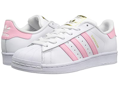 adidas Originals Kids Superstar (Big Kid) (White/Pink) Girls Shoes