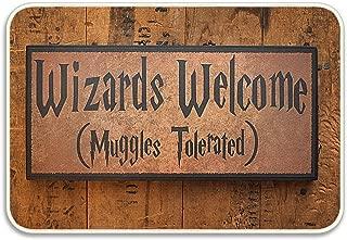 yyoungsell Anti Slip Welcome Door Mat Wizards-Welcome Muggles Tolerated Entrance Doormat Indoor Outdoor for Home Decor