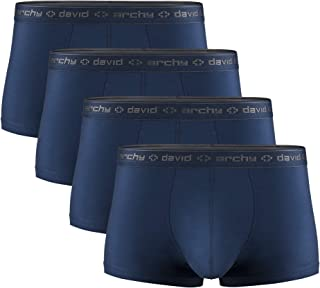 Men's 4 Pack Underwear Micro Modal Separate Pouches Trunks with Fly