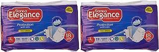 Sanita Elegance Adult Diapers - L Jumbo, 36 Pcs