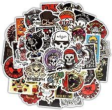 برچسب 50 پارچه Hip-Hops Cool Music DJ Skulls برای چمدان لپ تاپ ماشین ضد آب اسباب بازی تزئینی گرافیتی اسباب بازی