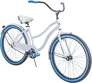"Huffy 26"" Womens' Cranbrook Cruiser Bike with Perfect Fit Frame, White"