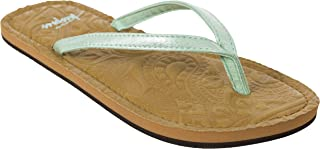 Roslyn Womens Flip Flops - METALLIC PEPPERMINT 38