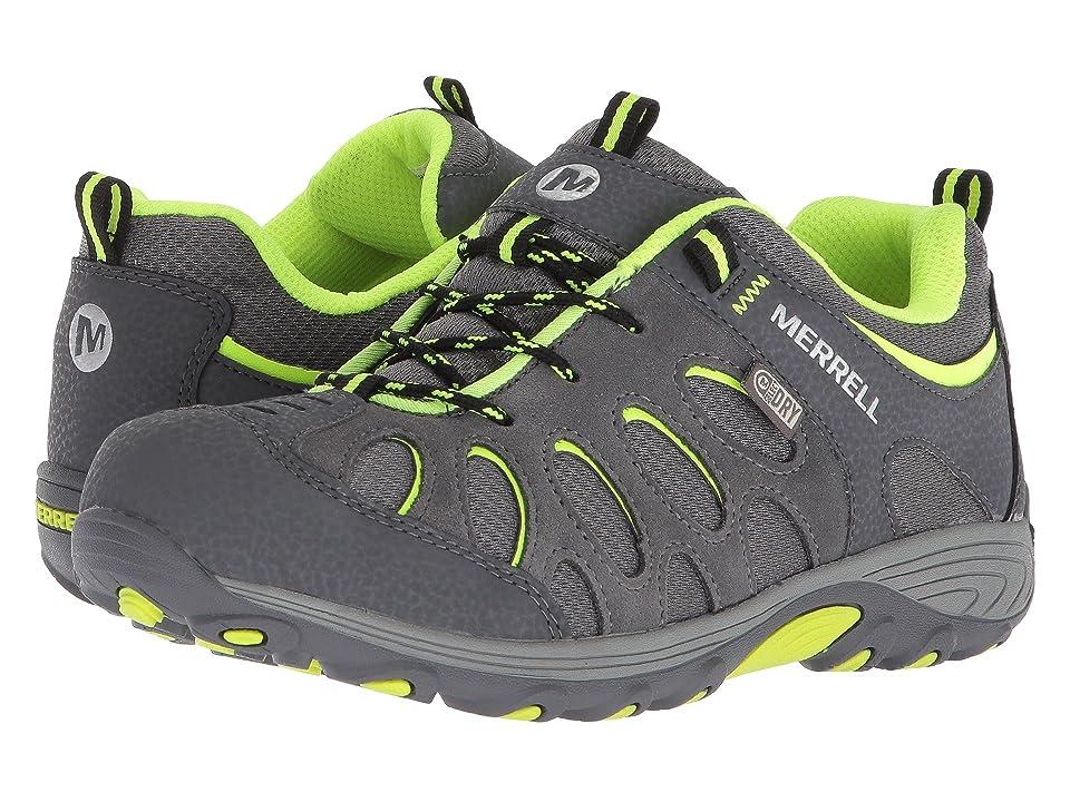 Merrell Kids Chameleon Low Lace Waterproof (Big Kid) (Grey/Citron) Boys Shoes