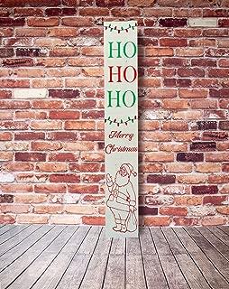 White HO HO HO Christmas Porch Sign, Santa Christmas Porch Sign, Merry Christmas Porch Sign, Christmas Porch Sign, Reversible Porch Sign 1235 inches.