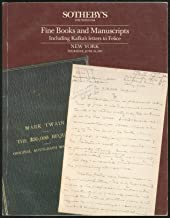 Sotheby's Fine Books and Manuscripts Including Kafka's Letters to Felice