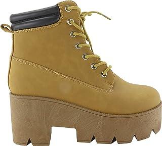 f78d622709a3 Amazon.es: botines color camel - 38 / Zapatos para mujer / Zapatos ...