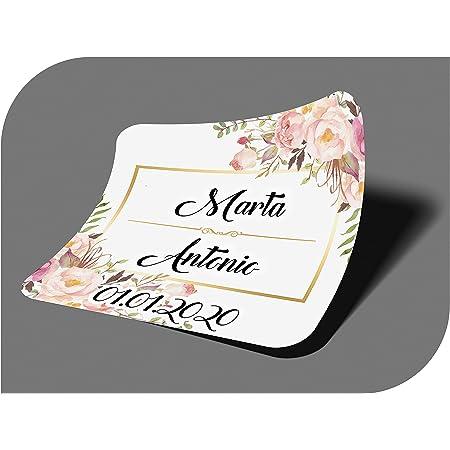 AMOYER 24Pcs Set Bouteille Licorne Autocollants B/éb/é Licorne Douche D/écoration De F/ête danniversaire De Mariage D/écoration /Étiquette De Bouteille Autocollants Rose