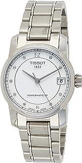 Tissot Women's Black Dial Metal Band Watch - T087.207.44.116.00, Silver Band, Analog Display