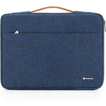 "NIDOO 10インチ ラップトップスリーブ ブリーフケース プロテクターケース(10.5"" 11"" iPad Pro Air | 10"" Microsoft Surface Go | 10.1"" Lenovo Ideapad D330 | 10.1"" Lenovo Tab 4 10 Plus| 10.5"" Galaxy Tab S4 | 10.8"" Yoga Book C930), ブルー"