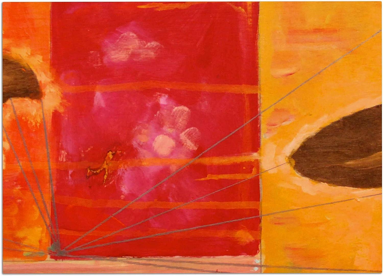 KESS InHouse NG1001ADM02 Nathan Gibbs Destination  She Surfs orange Floral Dog Place Mat, 24  x 15