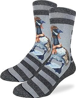 Good Luck Sock Men`s Aviator Goose Crew Socks - Grey, Adult Shoe Size 8-13