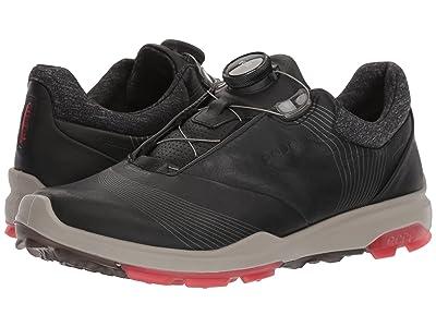 ECCO Golf Biom Hybrid 3 Boa (Black/Teaberry) Women