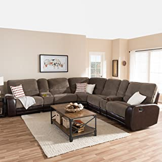 Best baxton fabric reclining sectional Reviews