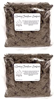 Gas Fireplace Glowing Embers, Rock Wool for Vent Free or Vented Gas Log Sets, Inserts and Fireplaces. 2- Large 4 Oz. Bags, 8 Ounces Total