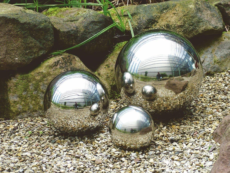 EDELSTAHLKUGEL Ø 48 cm Deko matt gebürstet Kugel Schwimmkugel Gartenkugel