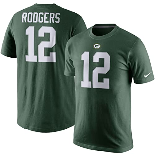 f70f4f9b88e13 NIKE Green Bay Packers Aaron Rodgers Player Pride Name   Number T-Shirt
