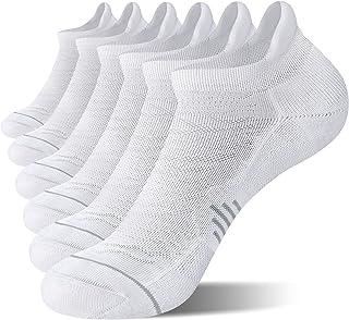 6 حزمة جوارب للجري حتى الكاحل للنساء، جوارب رياضية منخفضة القطع بعروة بيضاء-1، متوسط