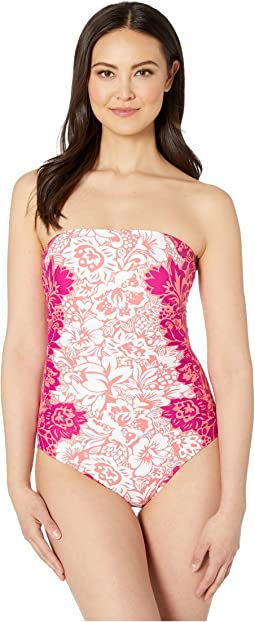 Engineered Hawaiian Bandeau Underwire One-Piece