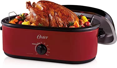Oster 18-Quart Turkey Roaster Oven 24-Pound ,red