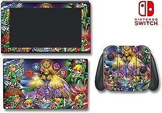 Legend of Zelda Wind Waker Link Stained Glass Video Game Vinyl Decal Skin Sticker Cover for Original Nintendo 3DS System