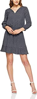 French Connection Women's GEO Printed Waisted Dress, Nocturnal/Multi