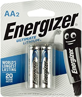 Energizer Ultimate Lithuim L91BP2 AA (Packaging may vary), 2ct