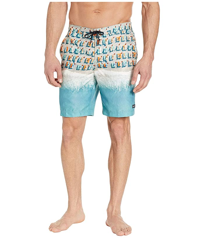 Perry Ellis 8.5 Printed Boardshorts (Dynasty Green) Men
