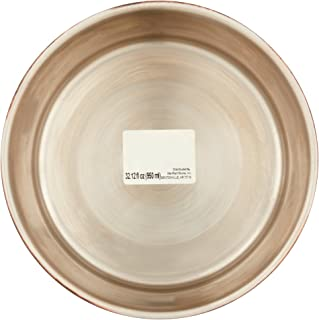 Go Fetch It Stainless Steel Copper Finish Medium Dog Bowl with Bone Detail and Anti-Skid Finish on Bottom of Dish (1 Quart)