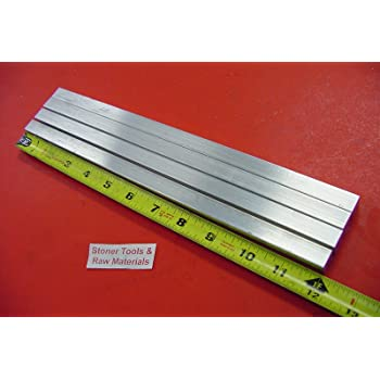1//4 Inch x 1//4 Inch 12 Inch Length RMP 6061 T6511 Extruded Aluminum Square Bar Mill Finish