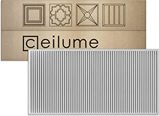 Ceilume 14 pc Polyline Ultra-Thin Feather-Light 2x4 Lay in Ceiling Tiles - for Use in 1