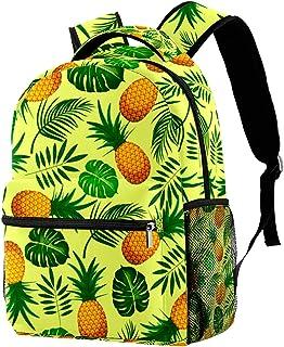 حقيبة ظهر مدرسية للكلية خفيفة الوزن حقيبة كمبيوتر محمول Daypack للكبار والأطفال حقيبة ظهر عادية من الأناناس والأوراق