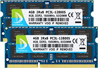 DUOMEIQI 8GB Kit (2 X 4GB) 2RX8 PC3L / PC3-12800 PC3L / PC3-12800S DDR3L/DDR3 1600MHz SO-DIMM CL11 204 Pin 1.35v / 1.5v Notebook Memory Laptop RAM Non-ECC Unbuffered for Intel, AMD and Mac Computer