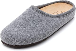 Le Clare Nebraska Men's Wool Felt Clog Slipper