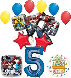 Mayflower Products The Ultimate Transformers 5th Birthday Party Supplies Balloon Decorations