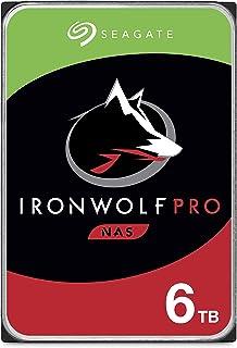 Seagate IronWolf Pro, NAS interne Festplatte 6 TB, HDD, 3.5 Zoll, 7200 U/Min, CMR, 256 MB Cache, SATA 6 Gb/s, silber, inkl. 3 Jahre Rescue Service, Modellnr.: ST6000NE000