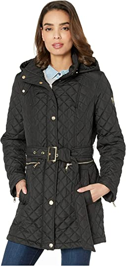 Quilted Belted Trench V19703