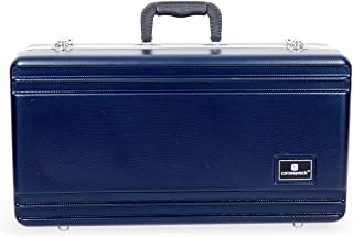 Crossrock CRA860TRBL Trumpet, Rectangular ABS Molded Hard Shell Case with Padded Strap in Blue