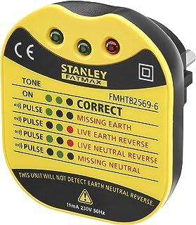 Stanley Fmht82569-6 Testeur Pour Prise Mural Gamme FatMax - Voltage 230V - LEDs Pour Donner Différentes Informations