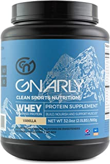 Gnarly Nutrition, Whey Protein Derived from Non-rBGH New Zealand Grass-Fed Cows for Muscle Synthesis, Vicious Vanilla, 20 ...