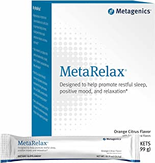 Metagenics MetaRelax® – Designed to Help Promote Restful Sleep, Positive Mood, and Relaxation* – Orange Citrus Flavor – 30...