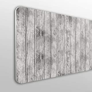 Cabecero Cama PVC 10mm Decorativo Económico. Fondo De Pared De Madera con Listones De Color Gris Verticales (150cm x 60cm)