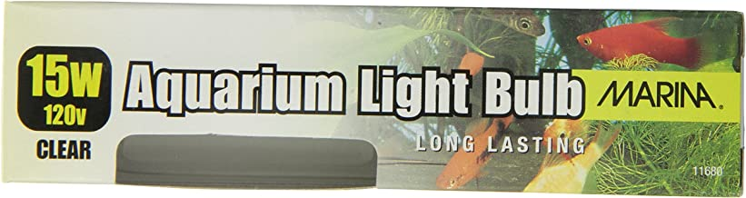 Marina Aquarium Showcase Bulb, 15-Watt, 120-Volt, Clear