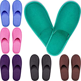 Tatuo Spa Slippers Cotton Thick Guests Slipper House Indoor Slippers Closed Toe Hotel Spa Slippers for Men and Women, Non-Slip Slippers for Hotel, Home, Guest Use, 6 Pairs