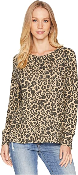 Brushed Leopard Raglan