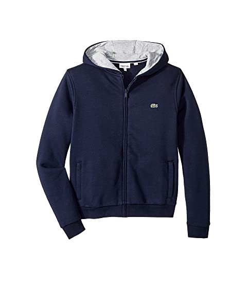 3842b80614bef0 Lacoste Kids Sport Hoodie Fleece (Toddler Little Kids Big Kids) at ...