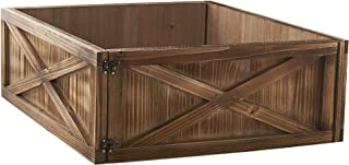 The Lakeside Collection Barnwood Christmas Tree Box with Distressed Finish - Natural
