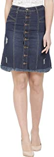 Denim Crafters Women's Buttoned Denim Skirt